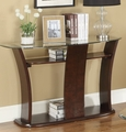 Brown Glass Console Table