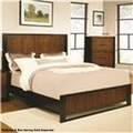 Coronado Brown Wood Bed