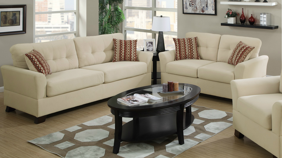 cream bamboo fabric sofa set loveseat up sets leather and