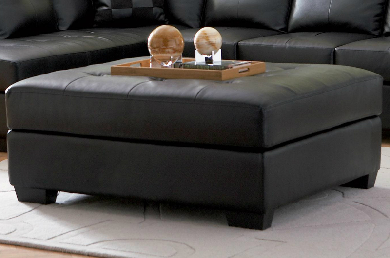 Darie Black Leather Sectional Sofa - Steal-A-Sofa Furniture Outlet