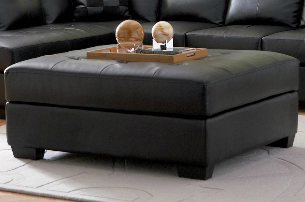 Black leather ottoman steal a sofa furniture outlet los for Leather sectional sofa los angeles