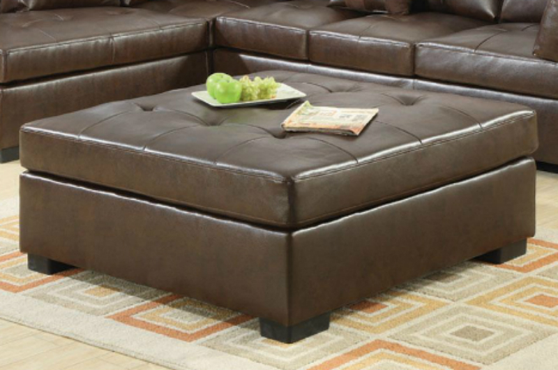 Darie brown leather sectional sofa steal a sofa for Darie leather sectional sofa
