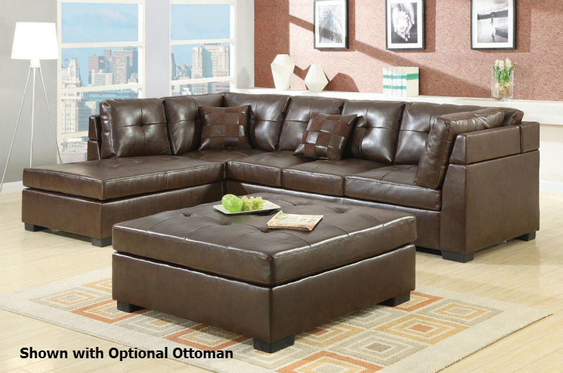 Darie brown leather sectional sofa steal a sofa for Sectional sofa los angeles ca