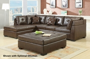 Darie Brown Leather Sectional Sofa