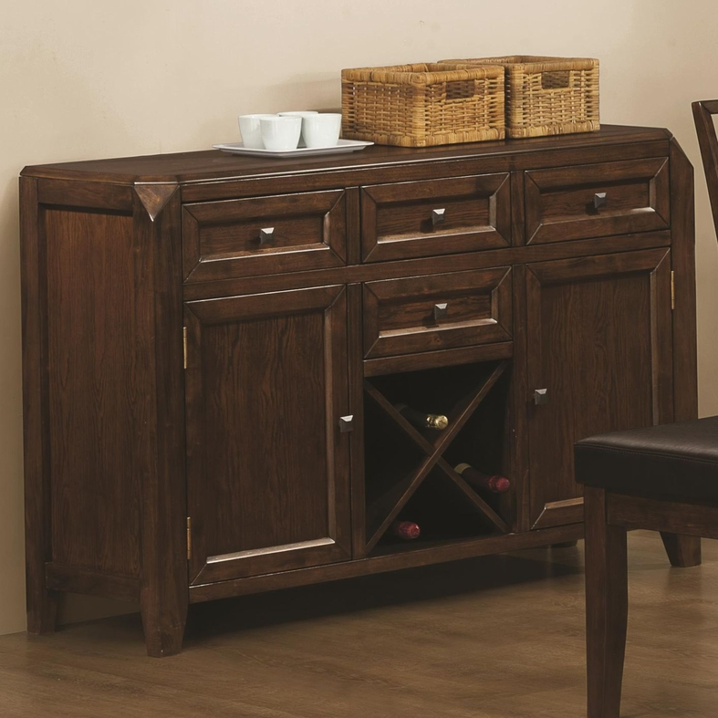 Dark Wood Buffet ~ Coaster davina brown wood buffet table in los