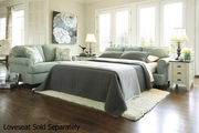 Daystar Seafoam Green Fabric Sofa Bed