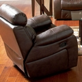 Denisa Brown Leather Glider Recliner