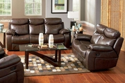 Denisa Brown Bonded Leather Sofa and Loveseat