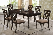 Dining 1033 Brown Ash Wood Dining Table Set