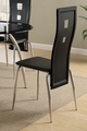 Silver Metal Dining Chair