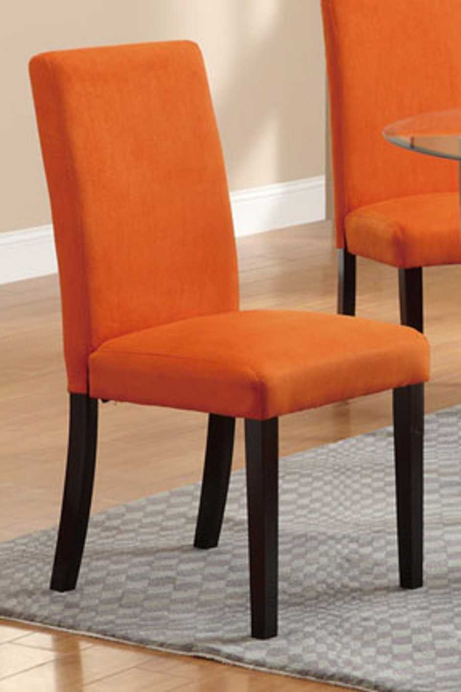 Orange fabric dining chair steal a sofa furniture outlet for Furniture 90036