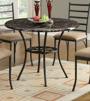 Beige Metal Dining Table