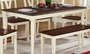 Beige Wood Dining Table