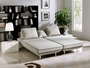 Dolce Beige Fabric Sectional Sofa