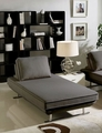 Dolce Grey Fabric Chaise Lounge