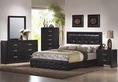 Dylan Black Wood California King Bed Set