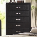 Black Wood Chest of Drawers