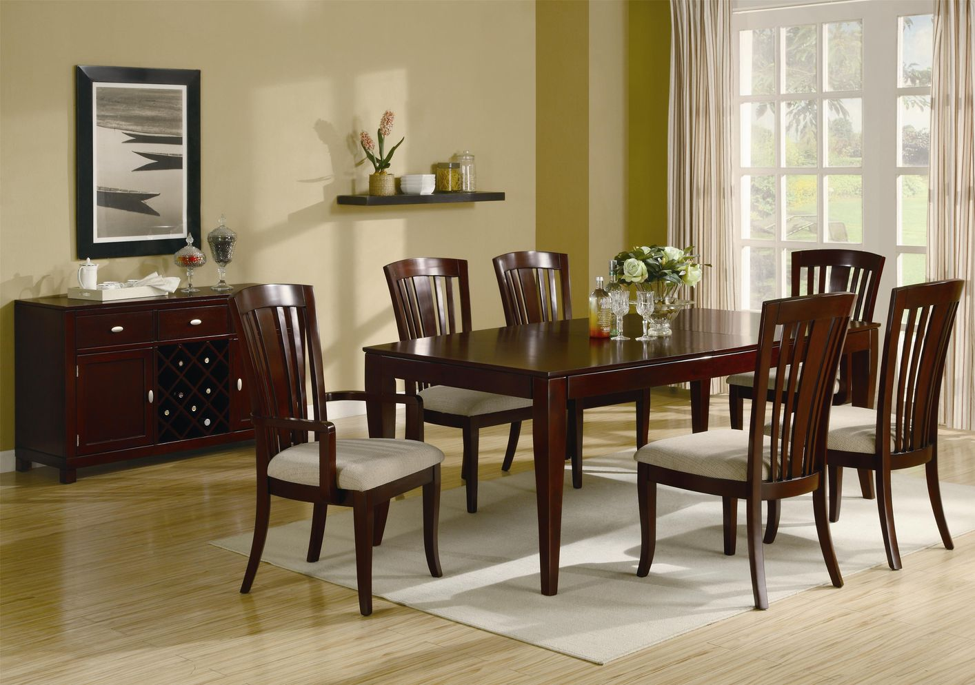 dining room with buffet table elegant and ornate wood dining set