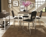Eldridge Black Metal Dining Table and Chair Set