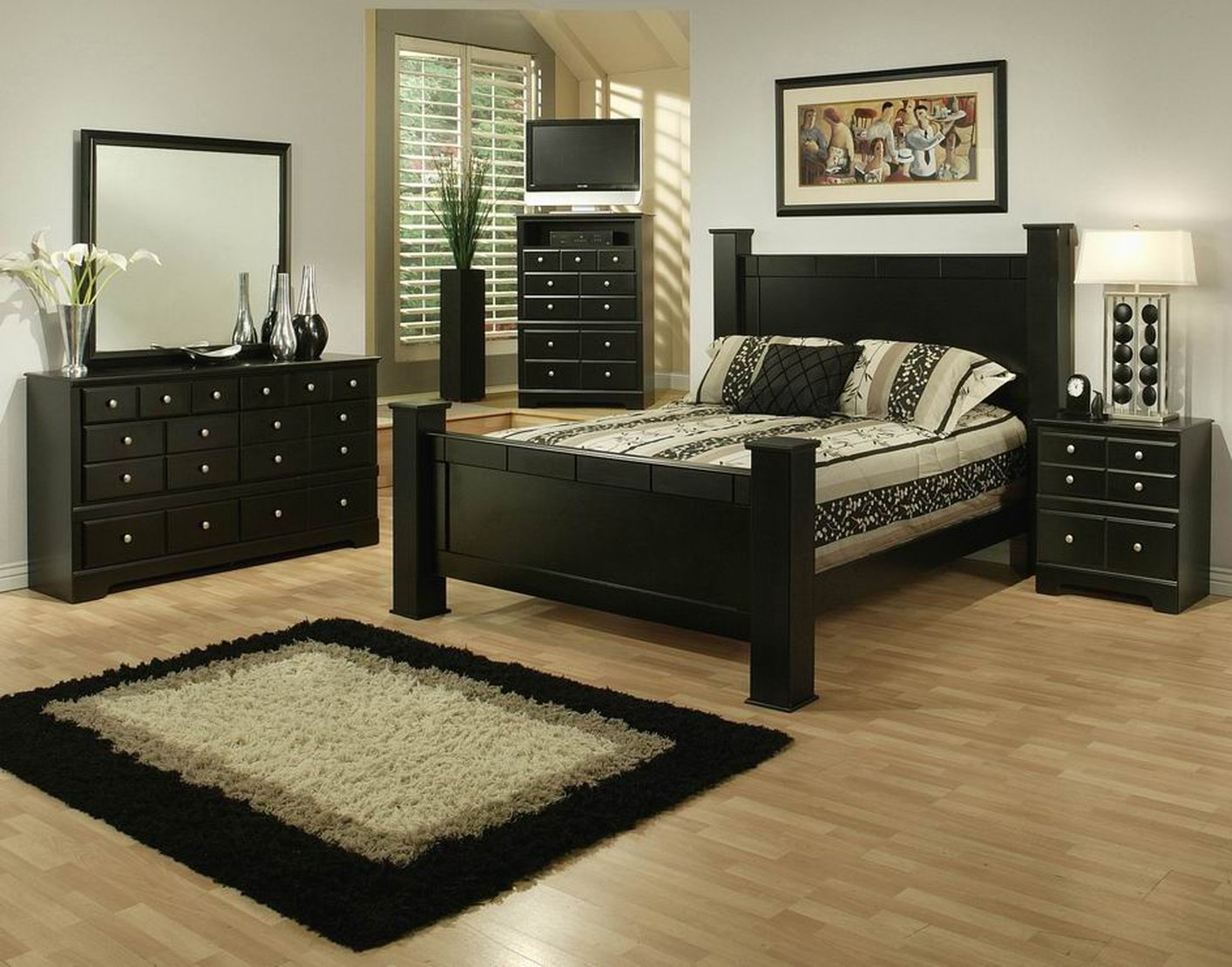 elena black wood queen size bed - Wooden Queen Size Bed Frame