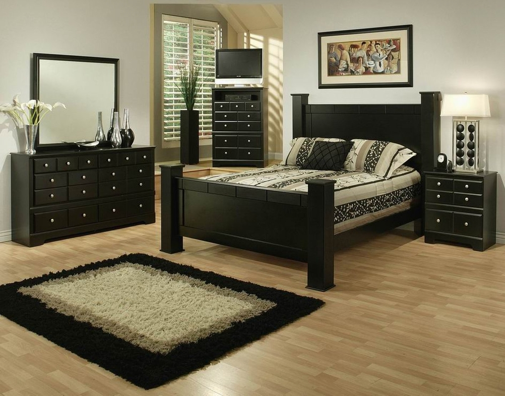 Black Wood Bedroom Furniture elena black wood queen size bed - steal-a-sofa furniture outlet