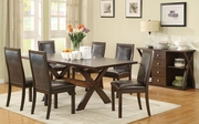 Emerson Cappuccino Wood Dining Table Set