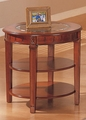 Brown Glass End Table