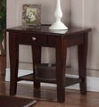 Brown Wood End Table