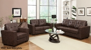 Enright Brown Leather Sofa and Loveseat Set