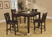 Ervin Espresso Wood Pub Table Set