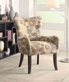 Noella Beige Fabric Accent Chair