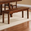 Ethan Rustic Oak Wood Dining Bench