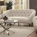 Faymoor Beige Fabric Loveseat
