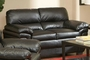 Fenmore Black Leather Loveseat