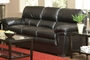 Fenmore Black Leather Sofa