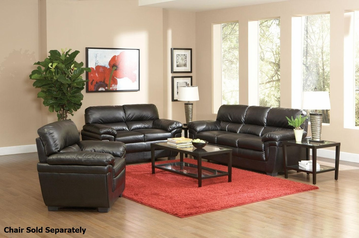 Fenmore Black Leather Sofa And Loveseat Set Steal A Sofa Furniture Outlet Los Angeles Ca
