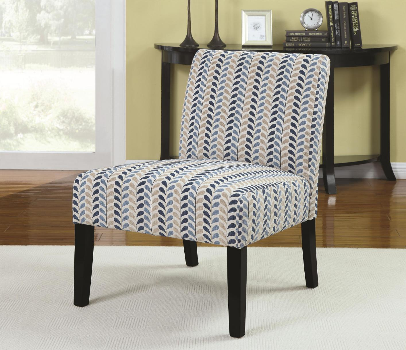 Finley Blue Fabric Accent Chair