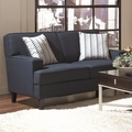 Finley Blue Fabric Loveseat