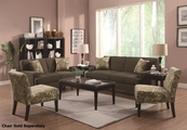 Finley Brown Fabric Sofa and Loveseat Set
