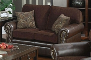 Florence Brown Fabric Loveseat