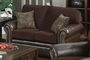 Florence Brown Leather Loveseat
