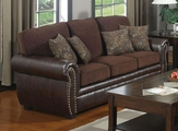 Florence Brown Leather Sofa