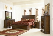 Foxhill Deep Brown Wood Eastern King Bed Set