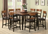 Franklin Two Tone Oak And Brown Wood Counter Height Dining Set