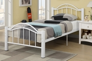 White Metal Full Size Bed