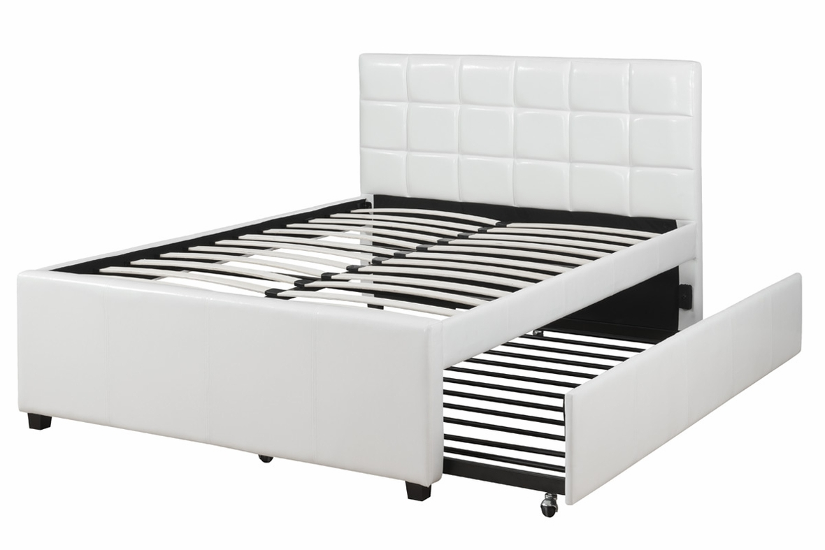 Poundex f9216f full size bed with trundle in los angeles ca for Beds with trundle