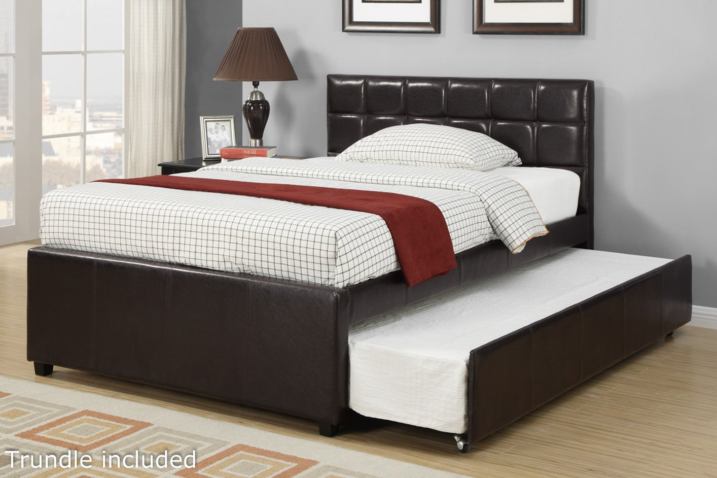 hafwen full size bed with trundle steal a sofa furniture outlet los angeles ca. Black Bedroom Furniture Sets. Home Design Ideas