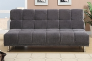 Grey Fabric Twin Size Sofa Bed