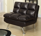 Brown Leather Adjustable Chair