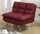 Red Leather Adjustable Chair